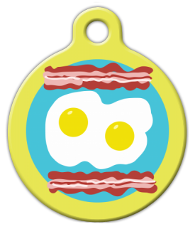 Dog Tag Art Breakfast Plate Pet ID Dog Tag