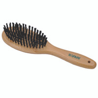 Safari Bristle Dog Brush with Bamboo Handle Small