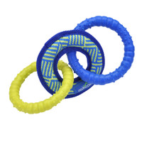 Rascals Fetch Dog Toy Tri-Tug Toy 10.5 Inch
