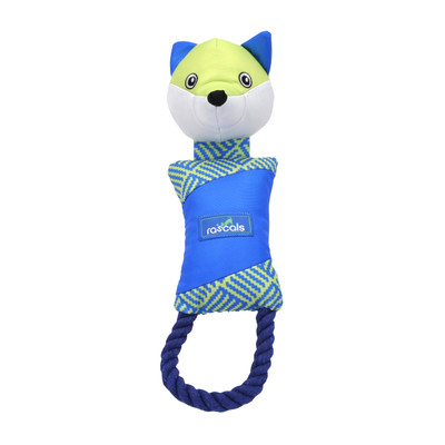 Rascals Fetch Dog Toy Fox With Rope 14 Inch
