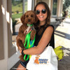 Kona and his Mom Wearing His Coastal Pet Pro Waterproof Leash + Collar Set In Lime and Dog Tag Art Got Treats Dog Tag
