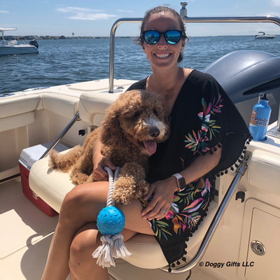 Charley at Sea with Pro Fit Rope Ball Toy