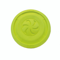 Hang Ten - Lets Play with our Pro Fit Foam Flying Disc Dog Toy 9 Inch (84802YLWDOG)