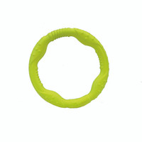 Great for lots of water and playtime fun - Rascals Pro Fit Foam Mini Ring Dog Toy 7 Inch (84803YLWDOG)