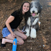 Henrythesheepadoodle With His Mom in his Coastal Pet Inspire Harness