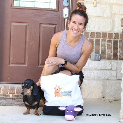 Sadie loves her Rascals Grunts dog toy