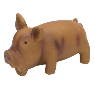 "Rascals Grunt Dog Toy Grunting Pig Brown 6.25"" (83051RBRNDOG)"