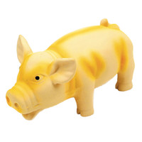"Rascals Grunt Dog Toy Grunting Pig Yellow 6.25"" (83051RYLWDOG)"