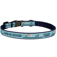 Life Is Good® Overlay Adjustable Dog Collar (61451D) Blue Good Vibes  back