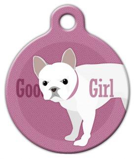 Dog Tag Art Good Girl French Bull Dog Pet ID Dog Tag