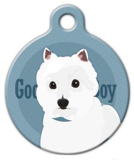Dog Tag Art Good Boy West Highland White Terrier Pet ID Dog Tag
