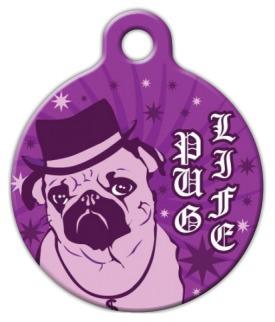 Dog Tag Art Pug Life Pet ID Dog Tag