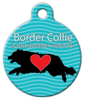 Dog Tag Art Border Collie Love Pet ID Dog Tag