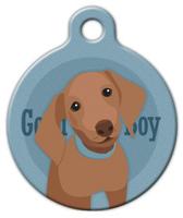 Dog Tag Art Good Boy Dachshund Pet ID Dog Tag