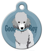 Dog Tag Art Good Boy Toy Poodle Pet ID Dog Tag