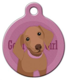 Dog Tag Art Good Girl Dachshund Pet ID Dog Tag