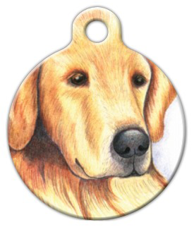 Dog Tag Art Golden Retriever Pet ID Dog Tag