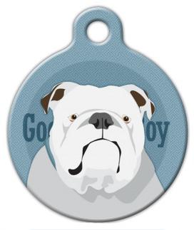 Dog Tag Art Good Boy English Bulldog Pet ID Dog Tag