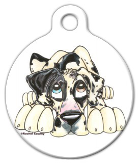 Dog Tag Art Great Dane Illustrated Pet ID Dog Tag
