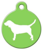 Dog Tag Art Beagle Silhouette Pet ID Dog Tag