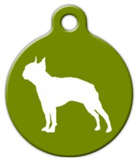 Dog Tag Art Boston Terrier Pet ID Dog Tag