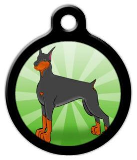 Dog Tag Art Doberman Pet ID Dog Tag