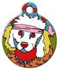 Dog Tag Art Skippy The Poodle Pet ID Dog Tag