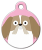 Dog Tag Art Shih Tzu Girl Pet ID Dog Tag