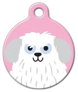Dog Tag Art Sheep Dog Girl Pet ID Dog Tag