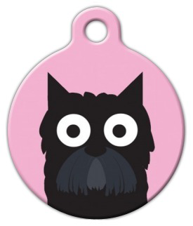 Dog Tag Art Scottish Terrier Girl Pet ID Dog Tag