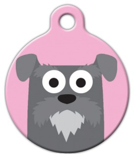 Dog Tag Art Schnauzer Girl Pet ID Dog Tag