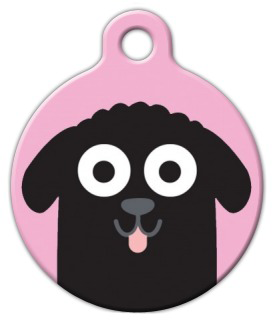 Dog Tag Art Newfoundland Girl Pet ID Dog Tag