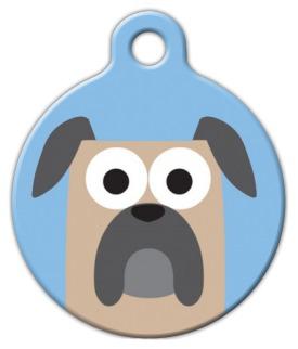 Dog Tag Art Mastiff Boy Pet ID Dog Tag