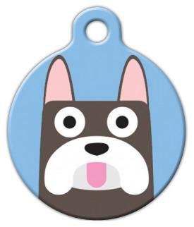 Dog Tag Art French Bulldog Boy Pet ID Dog Tag