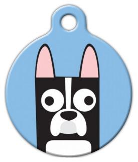 Dog Tag Art Boston Terrier Boy Pet ID Dog Tag