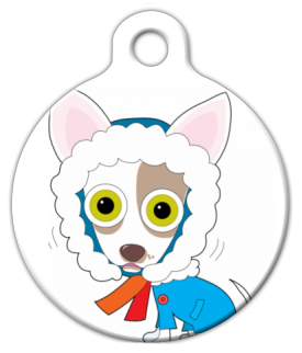 Dog Tag Art Chilly Chihuahua Pet ID Dog Tag