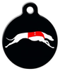Dog Tag Art Racing Greyhound Pet ID Dog Tag