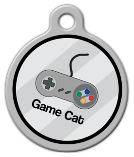 Dog Tag Art Game Cat Pet ID Dog Tag