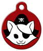 Dog Tag Art Red Kitty Pirate Pet ID Dog Tag