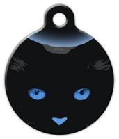 Dog Tag Art Blue Boo Kitty Pet ID Dog Tag