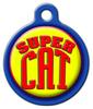 Dog Tag Art Super Cat Pet ID Dog Tag