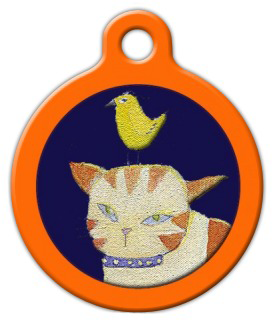 Dog Tag Art Kitty Close Up Pet ID Dog Tag