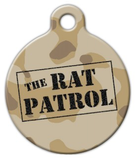 Dog Tag Art Rat Patrol Pet ID Dog Tag