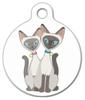Dog Tag Art Siamese Cats Pet ID Dog Tag