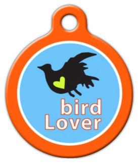 Dog Tag Art Bird Lover Pet ID Dog Tag