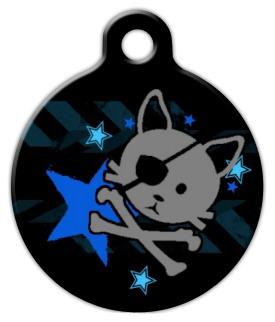 Dog Tag Art Pirate Kitty Pet ID Dog Tag