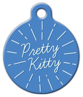 Dog Tag Art Pretty Kitty Pet ID Dog Tag
