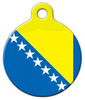 Dog Tag Art Flag of Bosnia-Herzegovina Pet ID Dog Tag