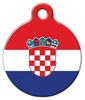 Dog Tag Art Croatian National Flag Pet ID Dog Tag