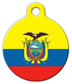 Dog Tag Art Flag of Ecuador Pet ID Dog Tag